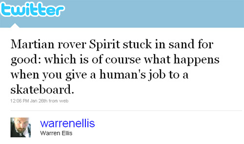 Warren Ellis Tweet