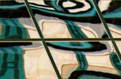 metallic glass 6x2 grid
