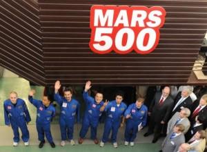 members of the Mars 500 crew