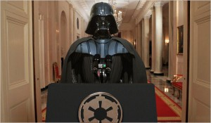 Vader at Podium